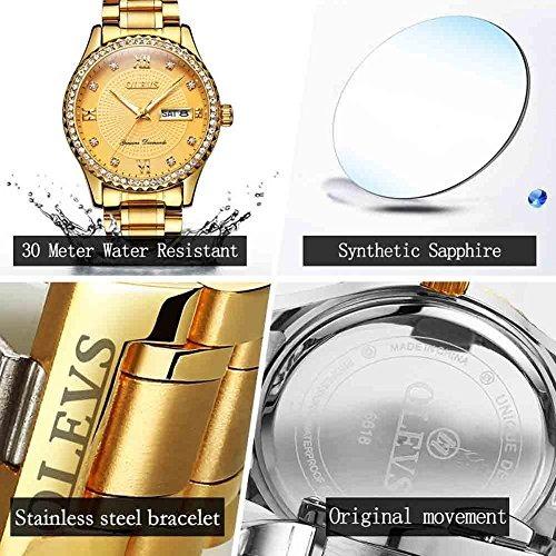 995db0062cbd olevs reloj dorado hombre acero inoxidable relojes de cuarzo · reloj hombre  relojes · hombre relojes reloj