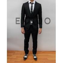 Terno Negro, Blazer, Pantalon, Nuevo Xs