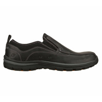 Skechers Relaxed Fit Superior Router Para Hombres 63699-blk