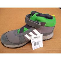 Zapato Adidas Tipo Botín Para Caballero (gris - Verde)