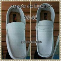 Zapatos De Cuero, Piel Blanco Para Caballeros