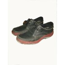 Zapatos De Cuero Original Casualaes Color Rojo-negro