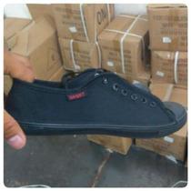 Zapatos Sport De Tela Para Caballeros Solo Color Negro