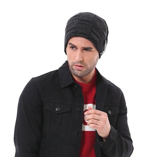 Hombres Beanie Sombreros Calentamiento De Tejer Sombreros Es ... 1c157179052
