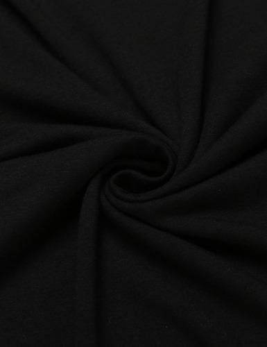 hombres casual manga corta o cuello patchwork pullover color