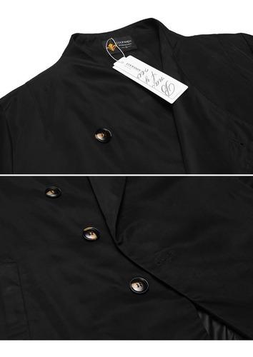 hombres chamarra chaqueta abirgo fit casual trench coat