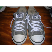 Converse All Star Grey Woman,usadas T38.5-7.5 Planta Accesib