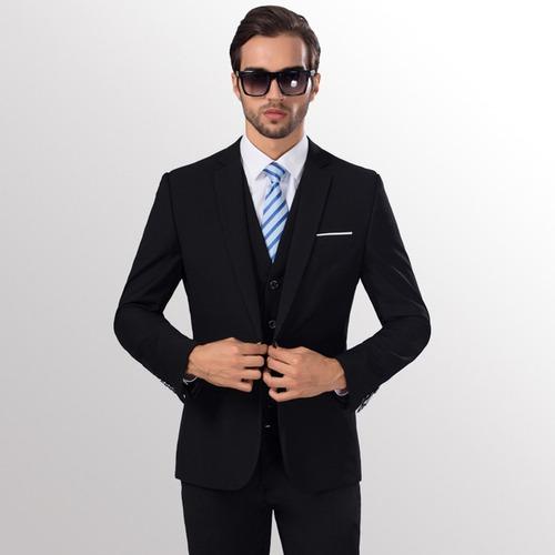 hombres delgado fit negocios ocio uno botón traje formal do