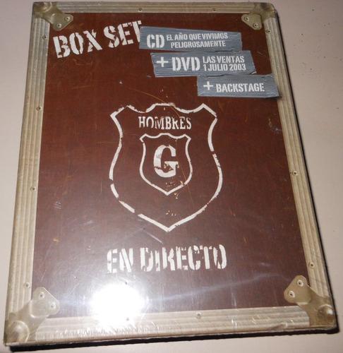 hombres g box set en directo cd+dvd ed. españa descatalogado