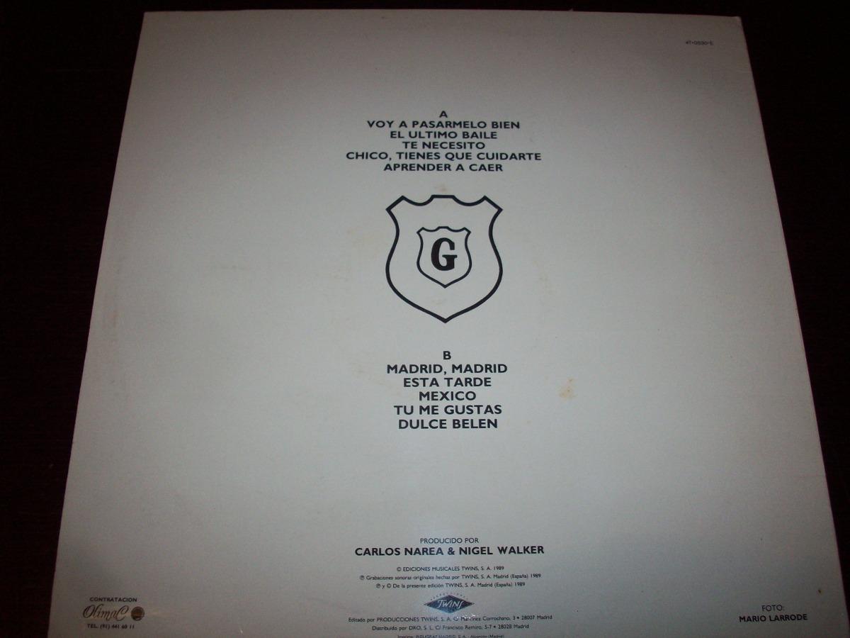 Hombres G Voy A Pasarmelo Bien Vinyl Lp 1989 Made In Spain