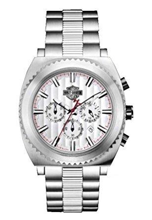 hombres harley-davidson bulova tono plata reloj cronógrafo