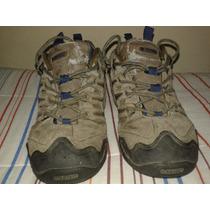 Zapatillas Hi-tec / Trekking / De Cuero / Talla 10 Us