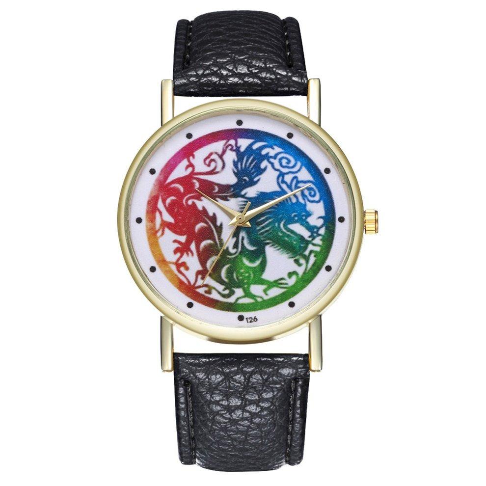 Hombres Reloj Mujer Cuarzo Del Moda Regal Muñeca Cuero Fc3KJl1uT