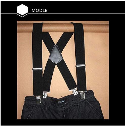 042632a7a Hombres Negro Tirantes X-back Clip Apoyos Formales Retro -   80.990 ...