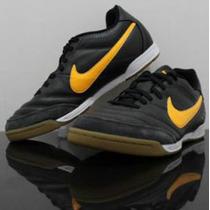 Nike Tiempo Zapatillas Fulbito Negras Futsal Planta Goma Nue