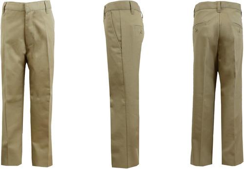 hombres 's caqui plano frente twill pantalones - tamaños 36