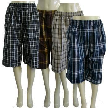 hombres 's de tartán pantalones cortos caso paquete 12