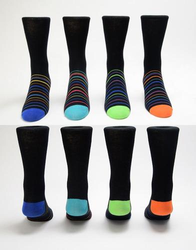 hombres 's vestido calcetines - surtido de color - tamaño 1