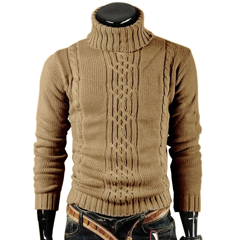 Hombres Suéter Casual Hombres Jerseys Otoño Invierno Manga ... f20d6f7a030c