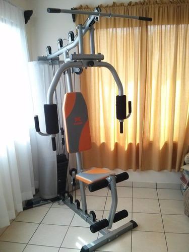 home gym con 100lbs de peso modelo ruhg2044l gimasio en casa