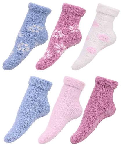 home mujeres chicas cama suave elástico... (6 pairs_p.)