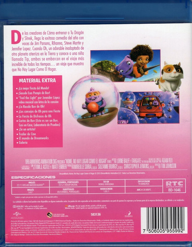 home no hay lugar como el hogar pelicula blu-ray + dvd