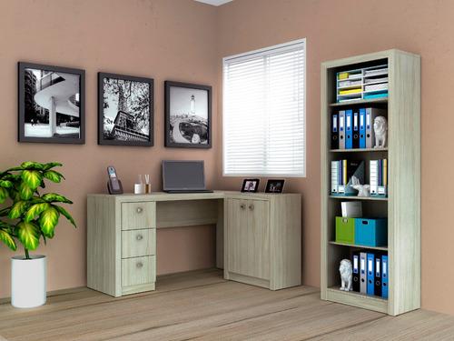 home office mesa estante gaveteiro balcão tecno mobili