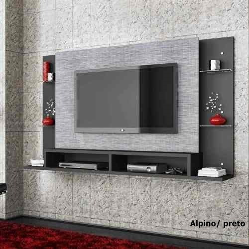 Painel De Tv Para Sala Cinza