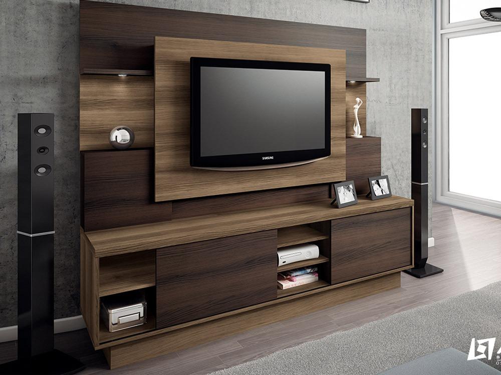 Home para sala de tv modelo aron r 780 00 em mercado livre for Modelos de modulares para sala