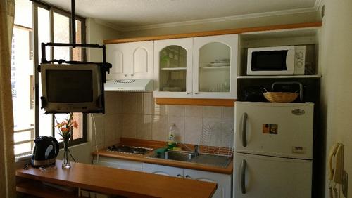 home studio amoblado mensual lira-santa isabel