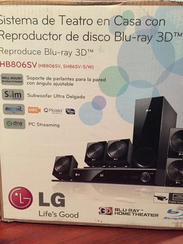 home teather blu ray 3d lg hb806sv 5.1 850w