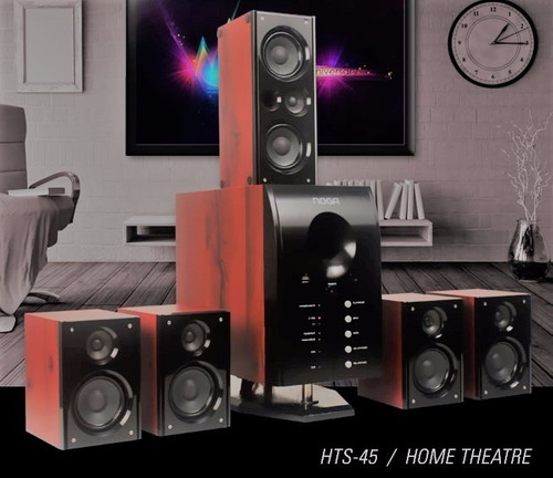home theater 5.1 100w bluetooth fm usb sd control hts-45