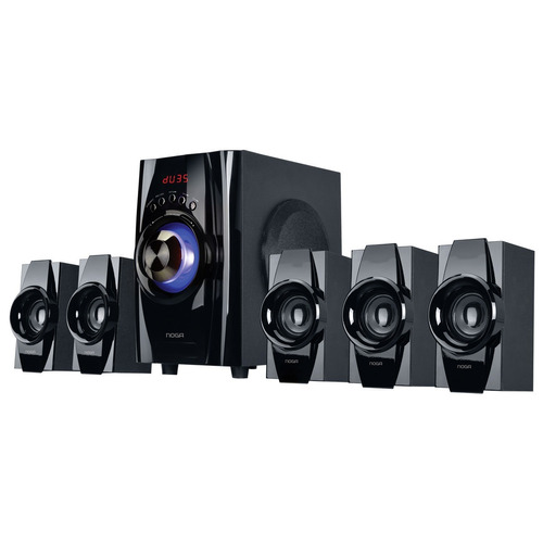 home theater 5.1 40w bluetooth usb fm control led niza noga