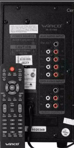 home theater 5.1 inalambrico bluetooth sd usb fm winco w5186
