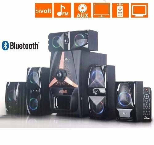 Hiperderl Smart Home Home Cinema Theater Multimedia Led: Home Theater 5.1 Smart Tv Cinema Bluetooth 125w Frete