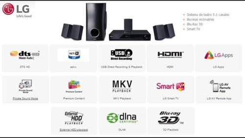 home theater bluray lg 5.1 smart tv usb hdd