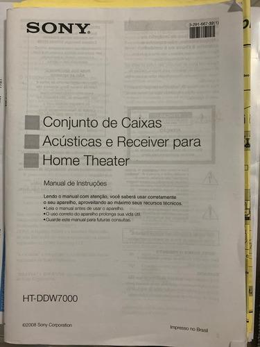 home theater da sony - str-km7000 c/ manual