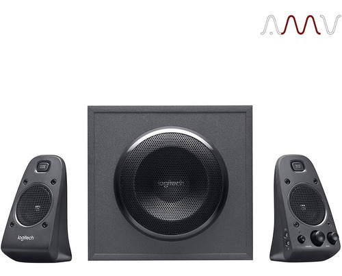 home theater logitech z625 c/ subwoofer y entrada optica amv