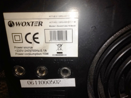 home theater marca woxter corriente  220 bs. 187.500,00
