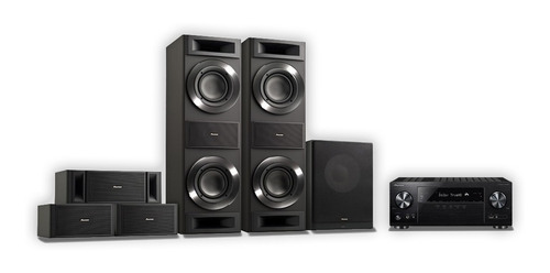 home theater pioneer vsx-832+parlantes+subwoofer