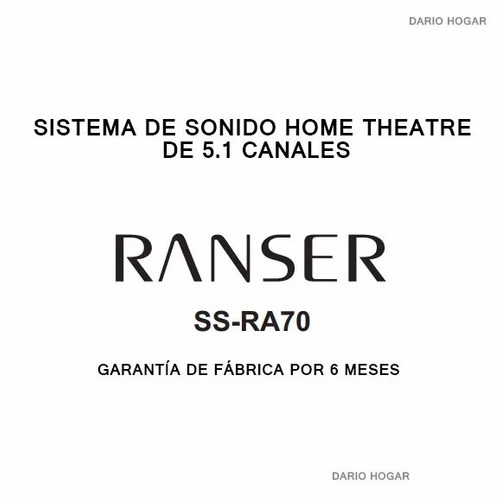home theater ranser 5.1 1200w aux dvd tv pc parlante madera