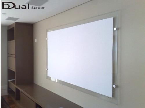 home theater tela de projecao 92 pol pelicula de projecao