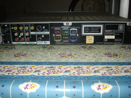 home theather 5.1 sony hcds300 c/ctrl orig lee dvds completo