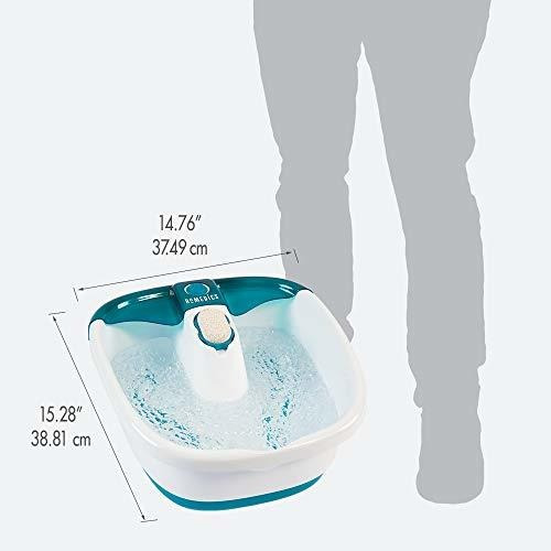 homedics bubble mate foot spa, control toe-touch, mantenimie