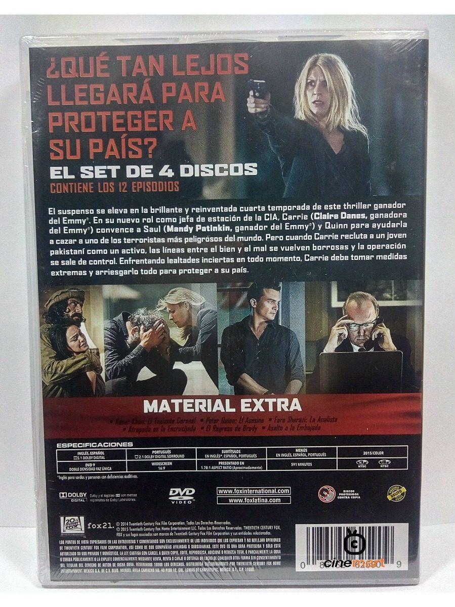 Homeland Cuarta Temporada 4 Serie Dvd