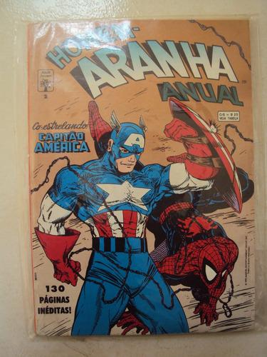homem-aranha anual # 02 - capitão america - editora abril