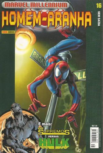 homem-aranha marvel millennium 16 panini bonellihq cx188 c18