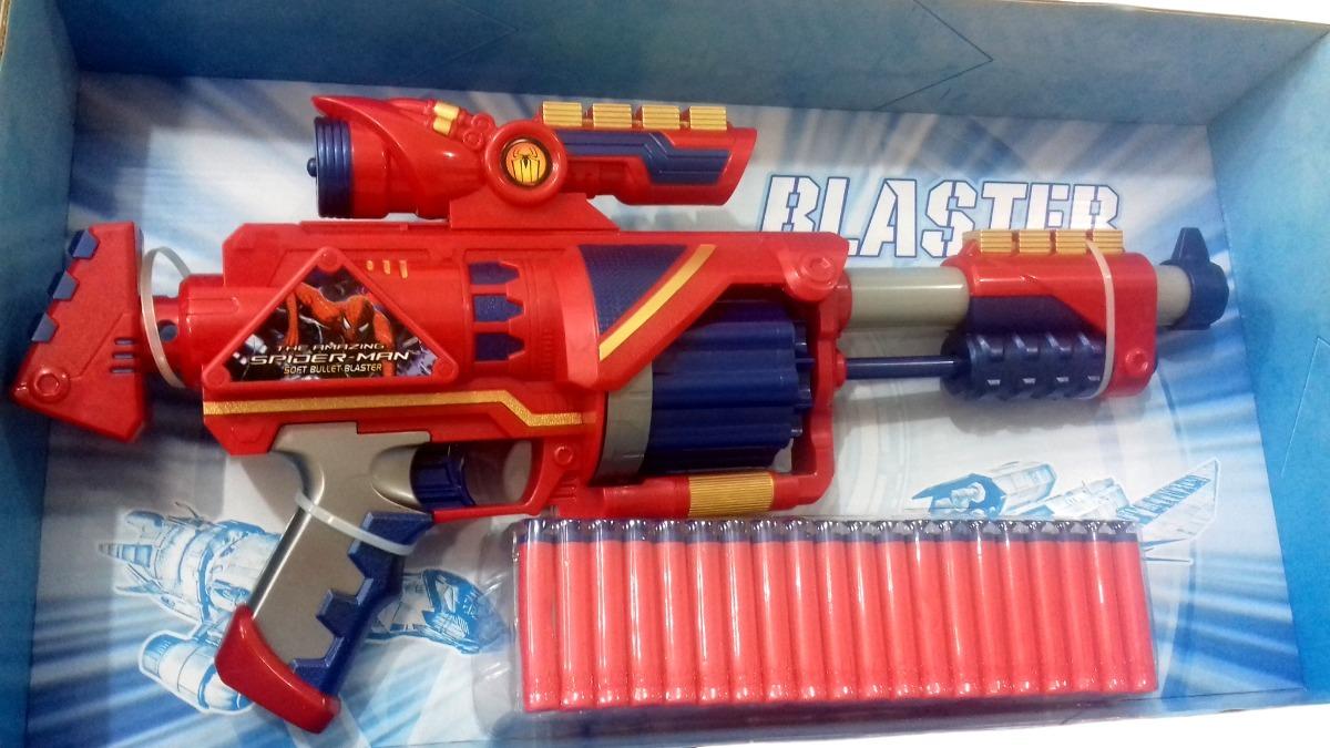 Homem Aranha Nerf Soft Bullet Blaster Lanador De Dardos R 19700 Carregando Zoom