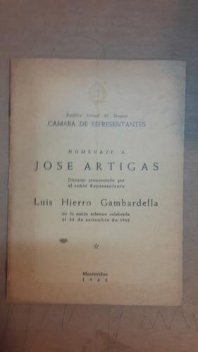homenaje a j artigas, discurso luis hierro gambardella 16 p