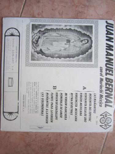 homenaje a la virgen morena, por juan manuel bernal - lp